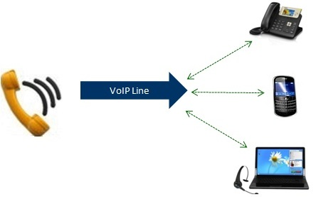 VoIP Line to Multiple VoIP devices, sotfphone, IP phone